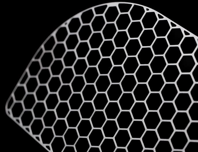 etched titanium pacemaker grid