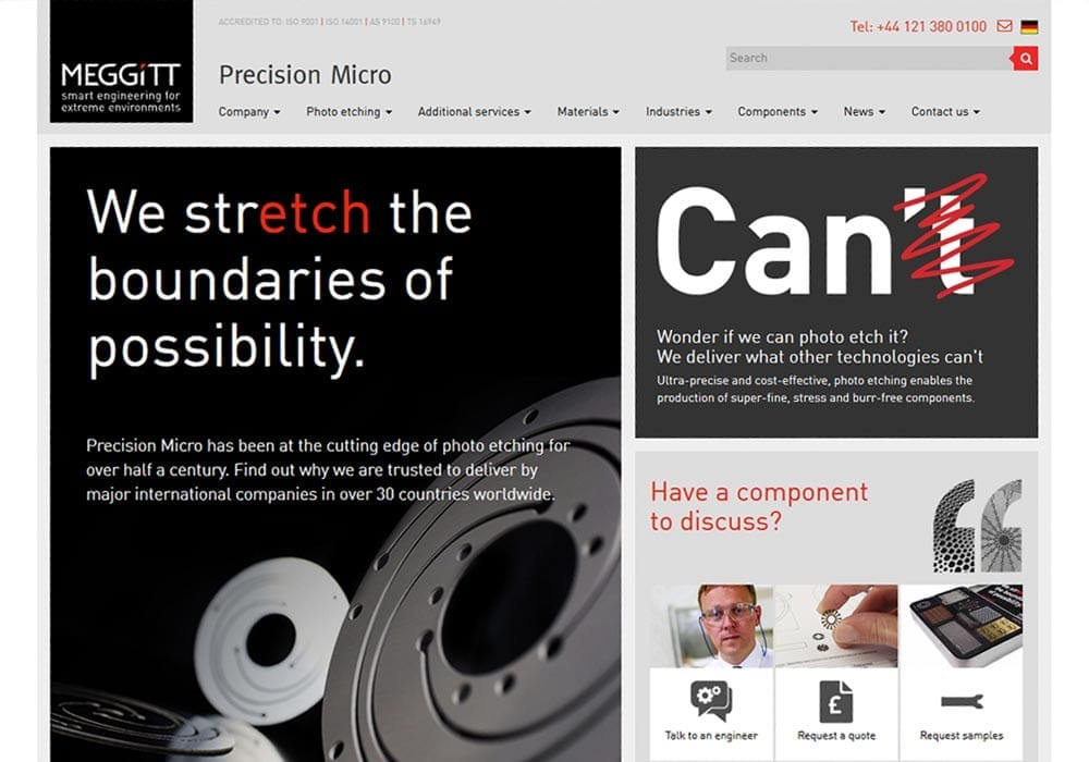 Precision Micro website