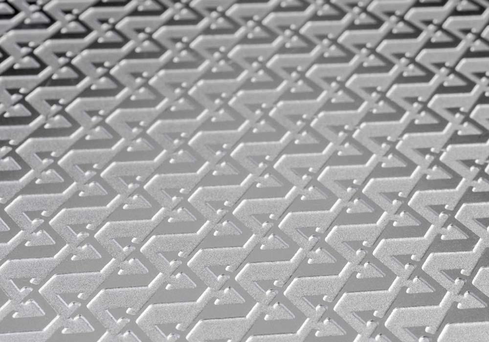 Etched aluminium dashboard