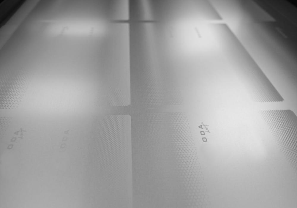 Etched aluminium sheet